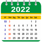 Calendário Brasil 2021