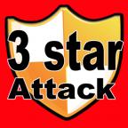Three Star Attack for COC