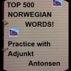TheTop 500 Norwegian words